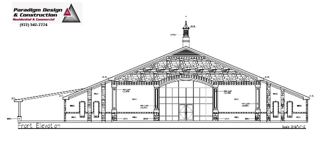 Church Elevation Plan : Paradigm offers dedicated architectural design we are