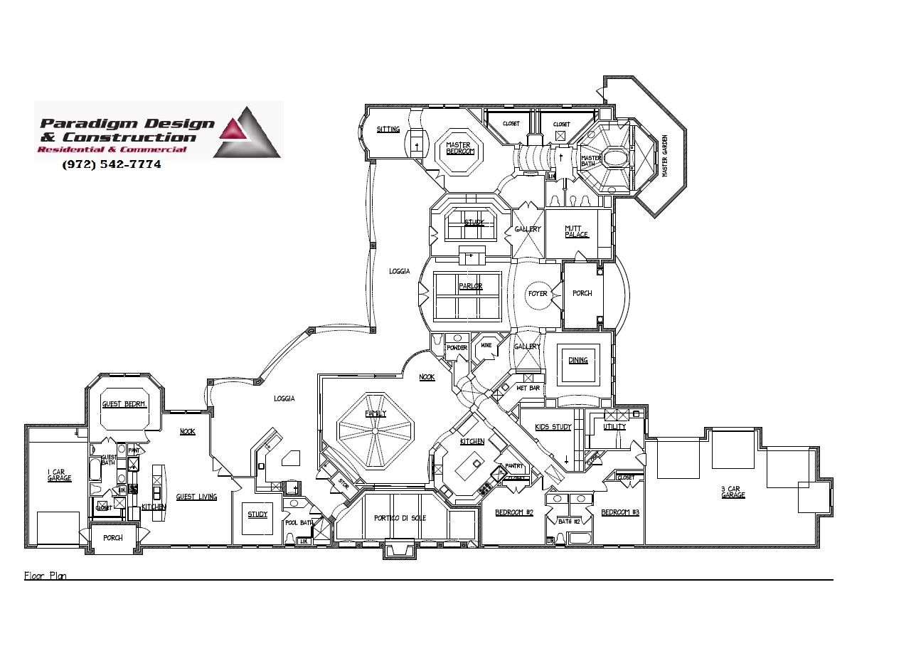 Residential Design Service New Office Floorplans Architectural
